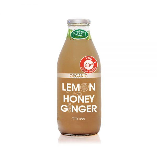 משקה אורגני - לימון, דבש וג'ינג'ר