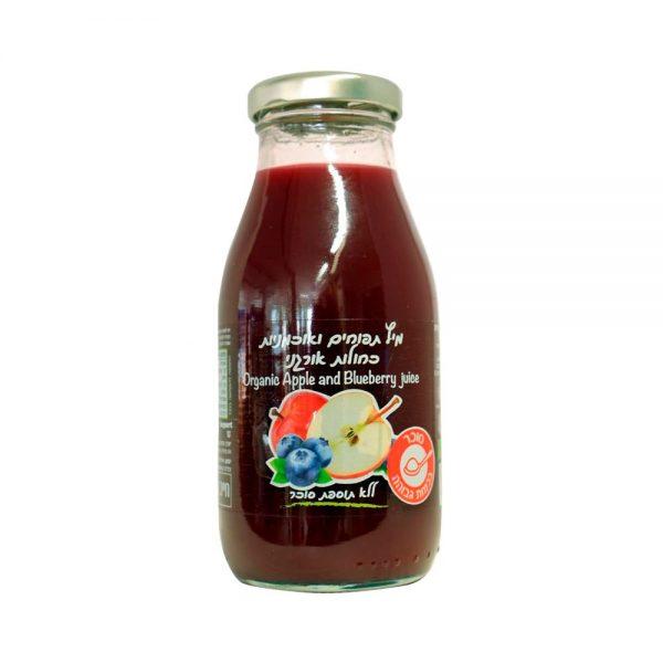 מיץ תפוחים ואוכמניות כחולות אורגני