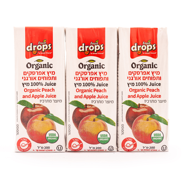 מיץ אפרסק ותפוח אורגני