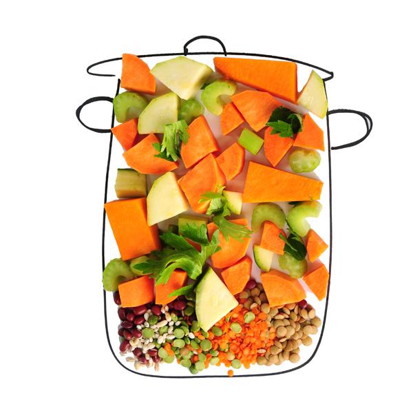 לקט ירקות חתוכים + קופסאת קטניות למרק